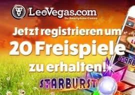 50 Freispiele für Starburst in Leo Vegas