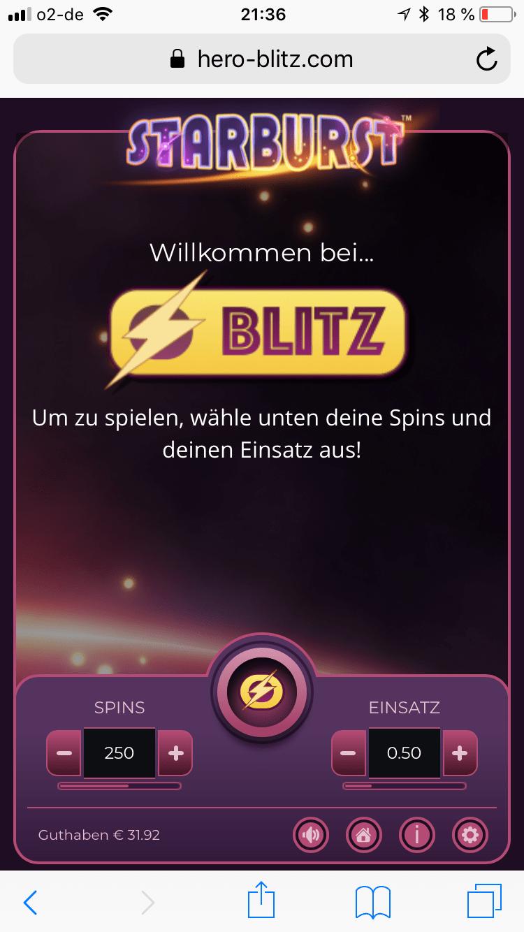 Starburst Blitz Spiele Vorschau