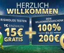 5€ gratis für Anmeldung + 1€ einzahlen und 15€ kassieren