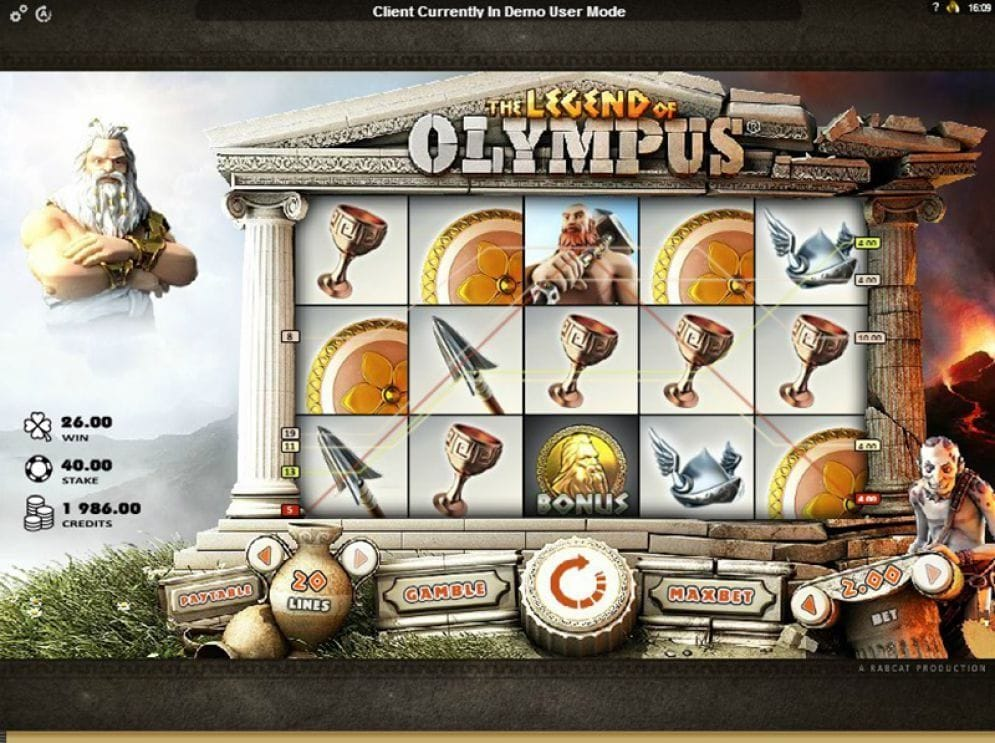 The Legend of Olympus online Spielautomat