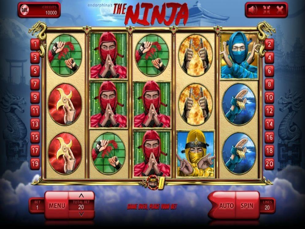 The Ninja online Casinospiel