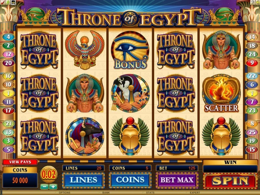 Throne of Egypt online Slotmaschine