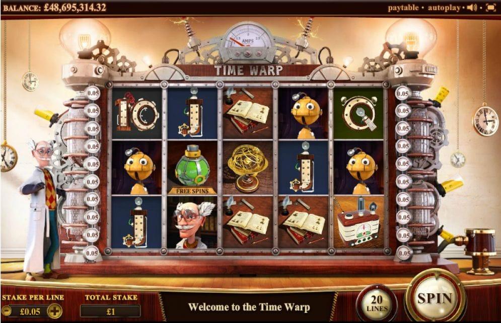 Time Warp online Spielautomat