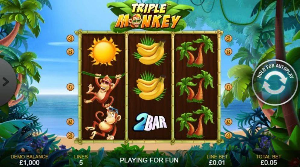 Triple Monkey online Videoslot