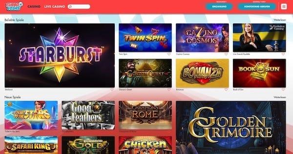 Turbo Vegas ohne Registrierung und Konto - Spieler Erfahrungen