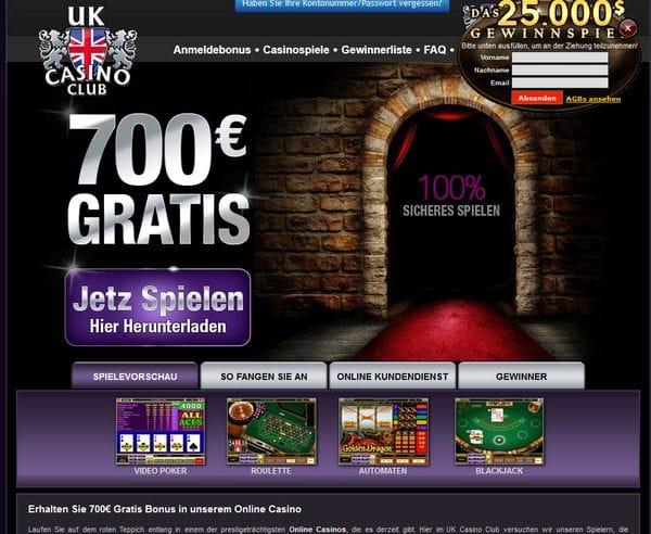 UK Casino Club im Test