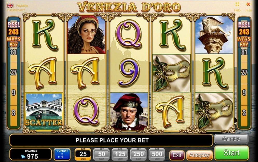 Venezia D'Oro online Video Slot