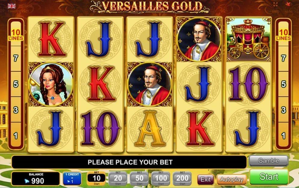 Versailles Gold online Casinospiel