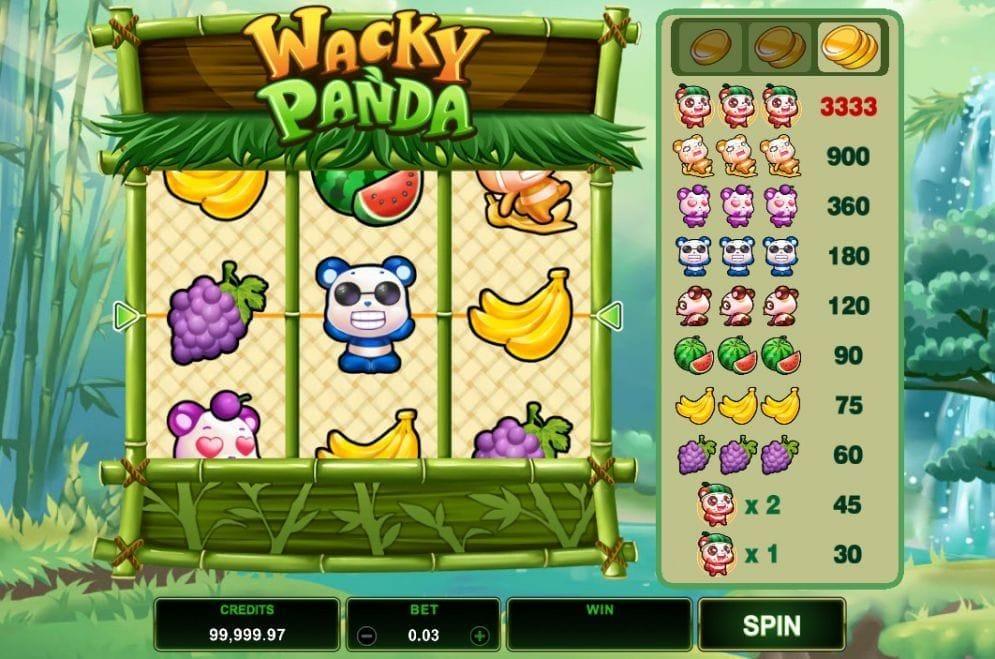 Wacky Panda online Casinospiel