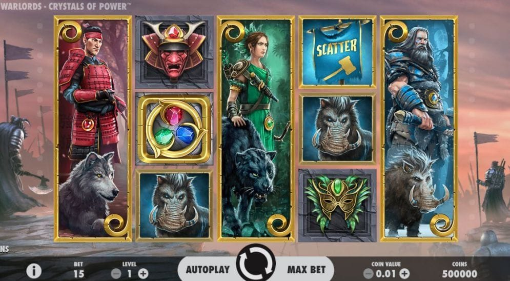 Warlords: Crystals of Power online Slotmaschine