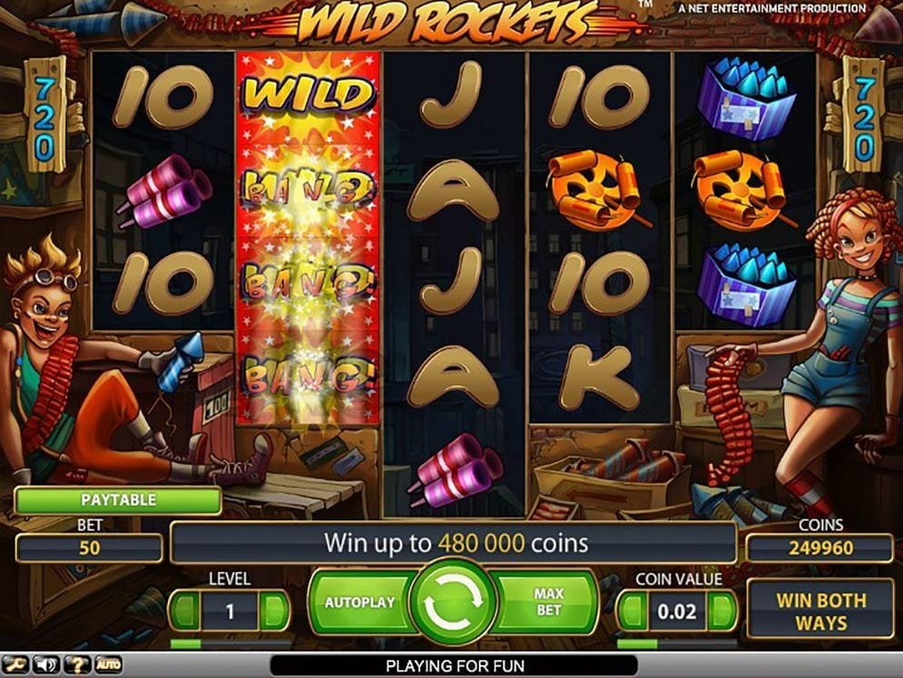 Wild Rockets online Videoslot