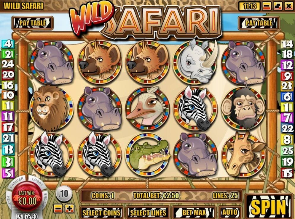 Wild Safari Videoslot