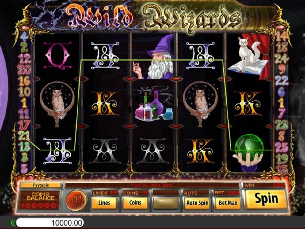 Wild Wizards online Automatenspiel