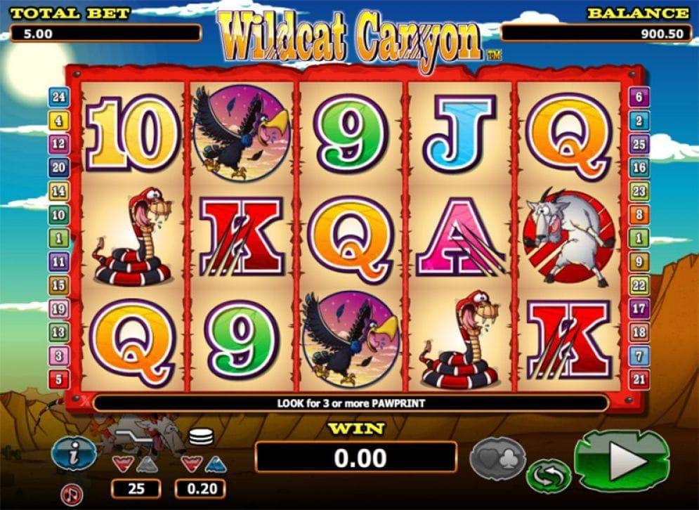 Wildcat Canyon online Videoslot