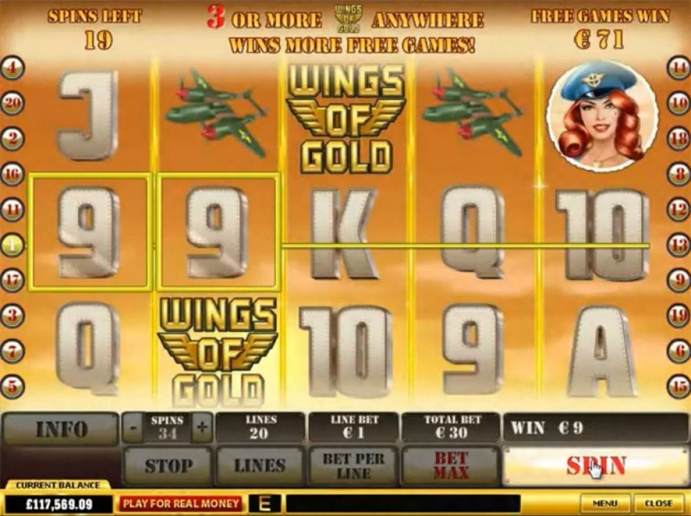 Wings of Gold Slotmaschine