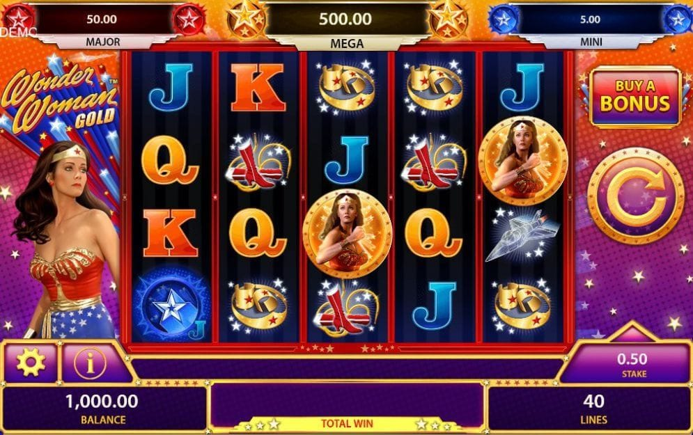 Wonder Woman Gold online Spielautomat