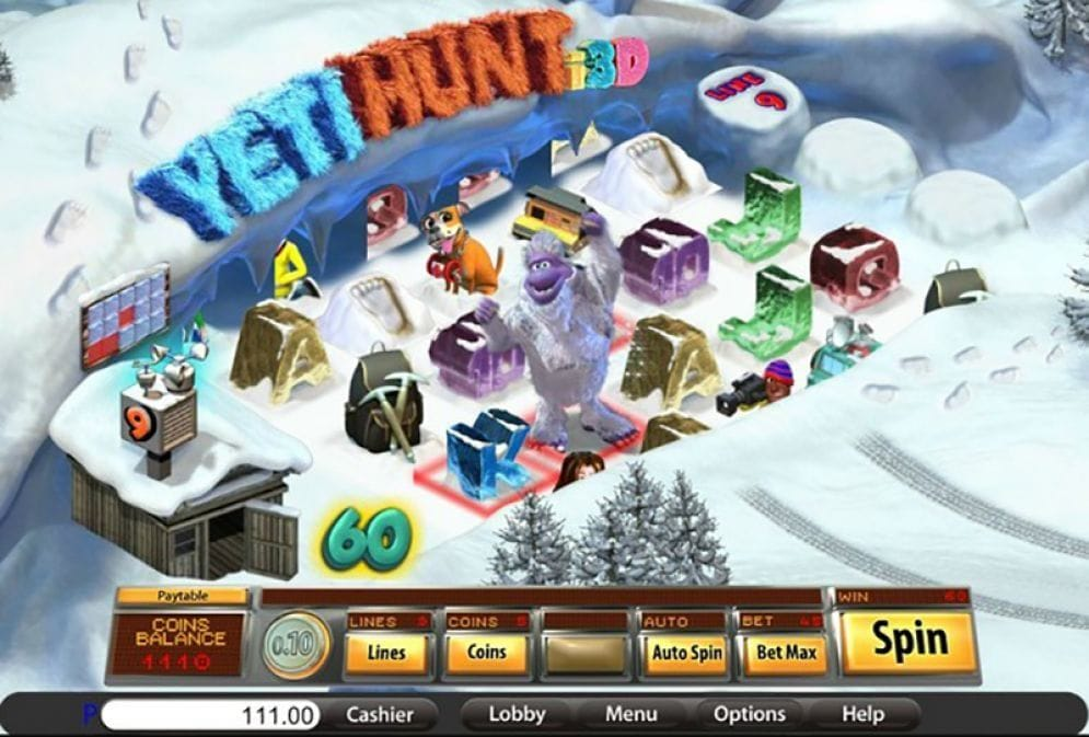 Yeti Hunt i3D Video Slot