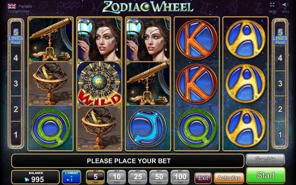 Zodiac Wheel online Video Slot