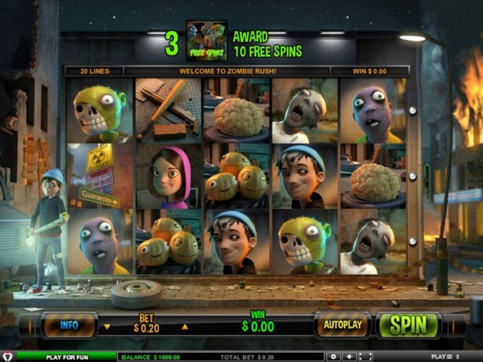 Zombie Rush online Spielautomat