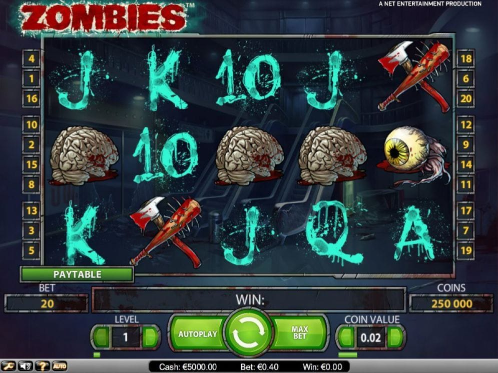 Zombies online Spielautomat